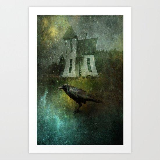 Crow House Art Print
