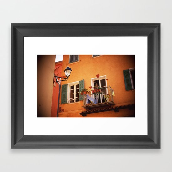 French Riviera Landscape Framed Art Print