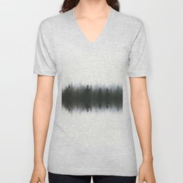 Sound waves -woods Unisex V-Neck
