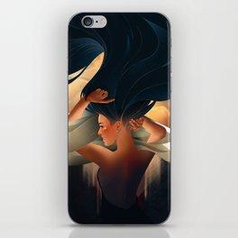 art deco girl iPhone Skin