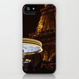 Eiffel Tower Carousel iPhone Case