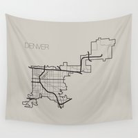 denver Wall Tapestries featuring Denver by linnydrez