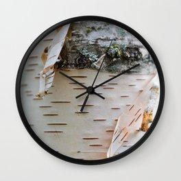 Paper Birch Wall Clock