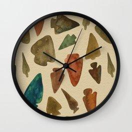 Arrowheads Wall Clock