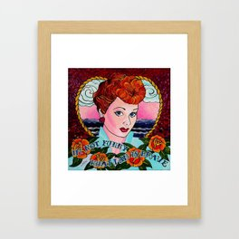 Do You Love Lucy? Framed Art Print