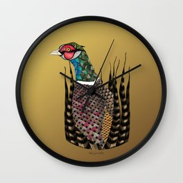 Pheasant Totem Wall Clock