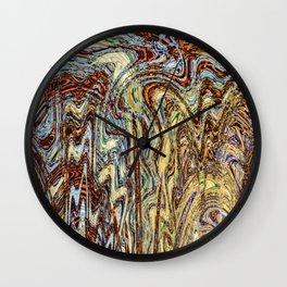 Scramble - Digital Abstract Expressionism Wall Clock