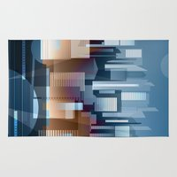 metropolis Area & Throw Rugs featuring Metropolis by Herb Vaine