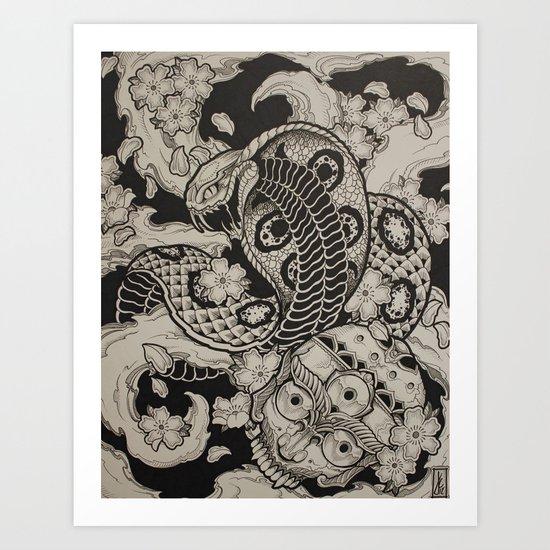 Cobra Dream Art Print