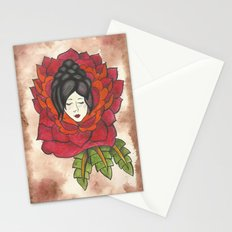 Lady in Rose Stationery Cards