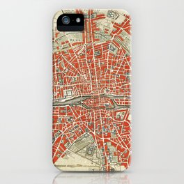 Plattegrond van Parijs (ca. 1721–1774) by Guillaume Delisle. iPhone Case
