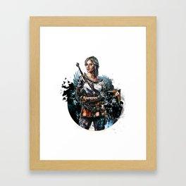 Ciri 2 - The Witcher Wild Hunt  Framed Art Print