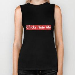 Chicks Hate Me T-Shirt Box Logo Text Biker Tank