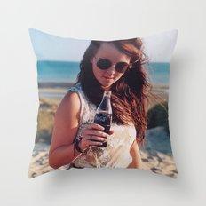 coca cola Throw Pillow