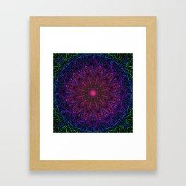 The Owl & The Dragon digital kaleidoscope art Framed Art Print