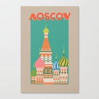 moscow Canvas Prints featuring Moscow by Chay Lazaro
