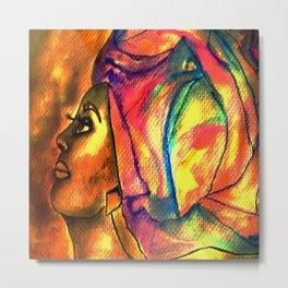 Headwrap series. Caribbean Ladies Metal Print