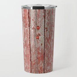 Rustic red wood Travel Mug