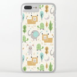 Forest Slumber Clear iPhone Case