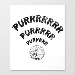 The Purrfect Connection Canvas Print