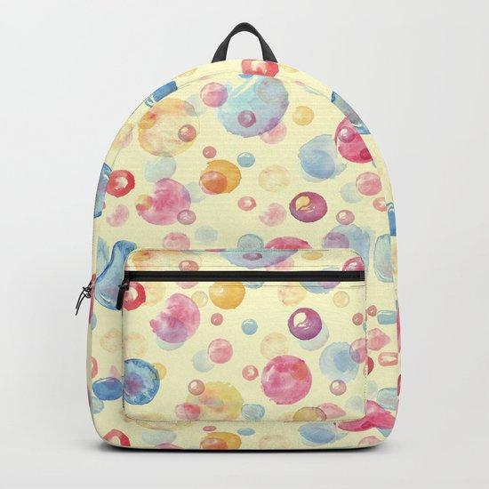 Colorful Watercolors Polka Dots Backpack