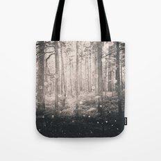 Nature Walk - Magical Winter Fairy Lights Tote Bag