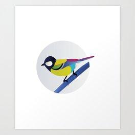 BIRD ON A BRANCH 2 Art Print