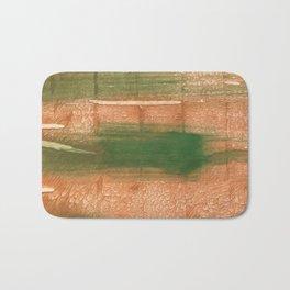 Peru green streaked wash drawing illustration Bath Mat