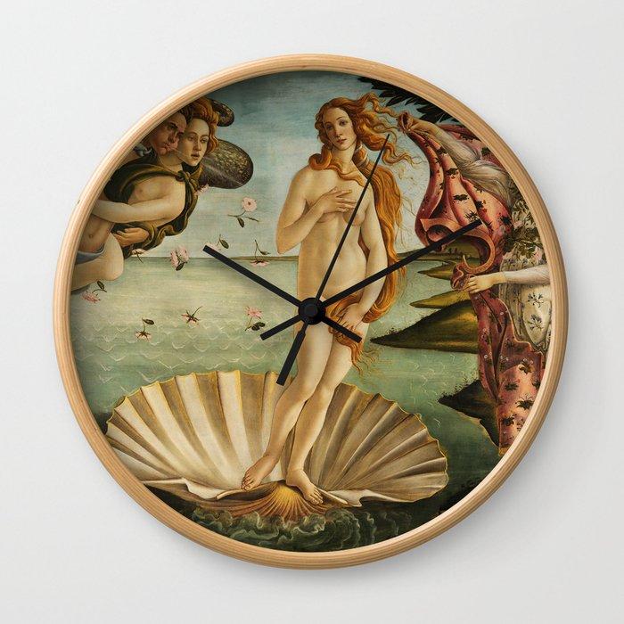The Birth of Venus (Nascita di Venere) by Sandro Botticelli Wall Clock