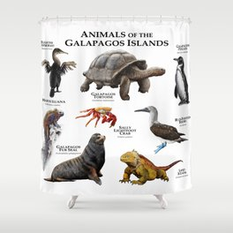 Animals of the Galapagos Islands Shower Curtain