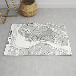 Montreal White Map Rug