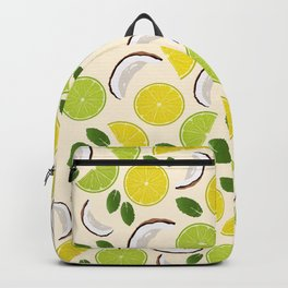 Lime Lemon Coconut Mint pattern Backpack