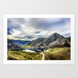 Enol, the Lakes of Covadonga Art Print