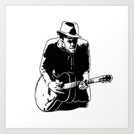 TOM WEITS THE SONGWRITER MUSICIAN Art Print