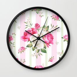 Belle époque flower power Wall Clock