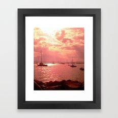 Red Lake Framed Art Print