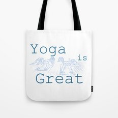 Yoga Is Great : Blues Take Two Tote Bag