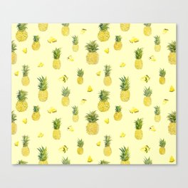 Pineapple Watercolors Canvas Print