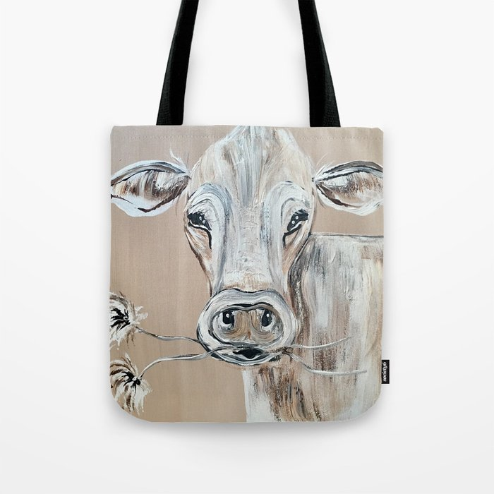 """Marge""  the Cow Tote Bag"