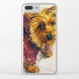 Sassy Sophie the Yorkie Puppy Clear iPhone Case