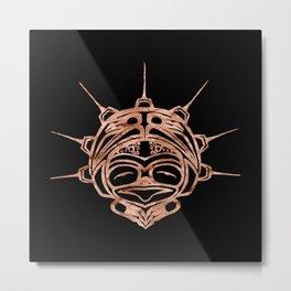 Copper Frog Ink Metal Print
