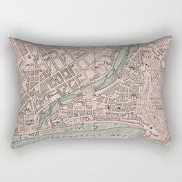 Vintage Map of Nice France (1901) Rectangular Pillow