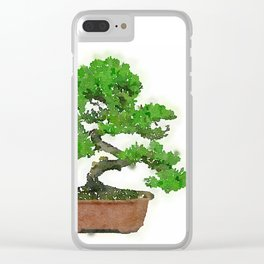 Japanese Bonsai Tree Clear iPhone Case