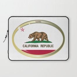 California State Flag Oval Button Laptop Sleeve