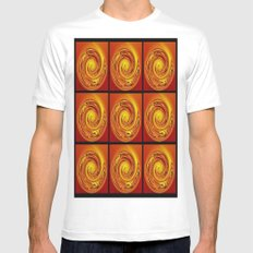 Abstract Collage Orange Art. MEDIUM White Mens Fitted Tee