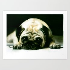 PUG POWER OUTAGE Art Print