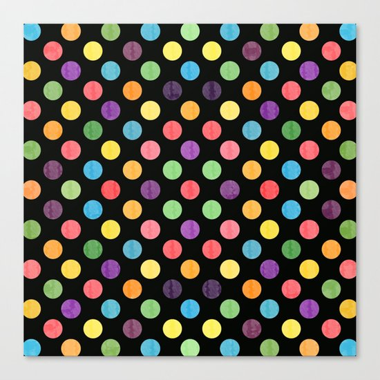 Lovely Dots Pattern Canvas Print