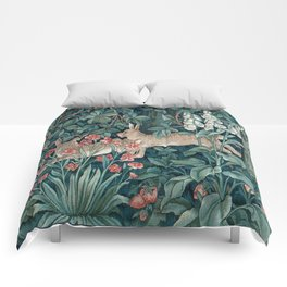 William Morris Forest Rabbits and Foxglove Comforters