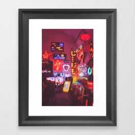 God's own junkyard Framed Art Print