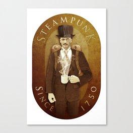 Steampunk Label Canvas Print